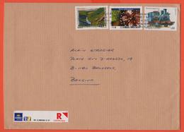 URUGUAY - 20?? - 3 Stamps - Registered - Medium Envelope - Viaggiata Da Montevideo Per Brussels, Belgium - Uruguay