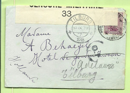 140 Op Brief PMB 4 Op 31/8/17 Naar Tilburg (Holland), CENSURE MILITAIRE 33 + C.F. (censuur Folkestone) (3580 - Esercito Belga