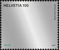2017 Switzerland - Selfie Mirrow Stamp -Odd Reflecting Stamp - Letter Vs E-mail - MNH** MI 2514 - Ongebruikt