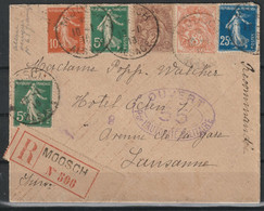 Frankrijk Aangetekende Brief Naar Lausanne, Ouvert Par Autorité Militaire / Opruiming, Clearance Sale, Déstockage. - Brieven En Documenten