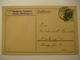 Germany.Inflation  Mi.301 On Postcard.Hameln.9.10.1923 - Covers & Documents