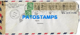 166777 US NEW YORK COVER CANCEL YEAR 1945 CENSORED CIRCULATED TO COLOMBIA NO POSTAL POSTCARD - Unclassified