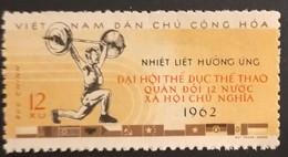 North Vietnam Viet Nam MNH Recalled Stamp 1962 : Military Sport Tournament Among 12 Socialist Countries / Weightliftng - Viêt-Nam