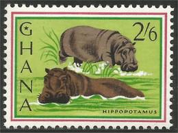 450 Ghana Hippopotame Hippopotamus Ippopotamo Nilpferd Hipopótamo Hipopotama MH * Neuf (GHA-133) - Otros