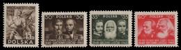 Polen 1948 - Mi-Nr. 497-500 ** - MNH - Revolution 1948 - Nuovi