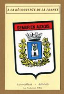 SEMUR-EN-AUXOIS  (21)  : ECUSSON BLASON ADHESIF - Adesivi