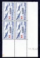 ALGÉRIE YT-N°: 245 - Oeuvres De L'air, Coin Daté Du 17.10.1942, 1er Tirage, NSC/**/MNH - Ungebraucht