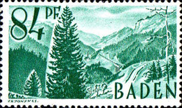 Allemagne ZOF Baden Poste N** Yv:12 Mi 12 Höllentahl Schwartzwald - Französische Zone