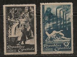 Espagne 1938 N° Y&T : 630 Et 631 * - 1931-50 Neufs