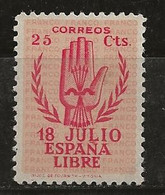 Espagne 1938 N° Y&T : 637 * - 1931-50 Neufs