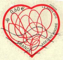 France Poste AA Obl Yv: 648 Mi:5257 Patch D'amour (cachet Rond) - KlebeBriefmarken
