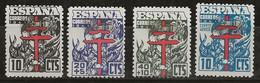 Espagne 1941 N° Y&T : 708 à 710 + PA. 224 * (Charnière Forte) - 1931-50 Ungebraucht