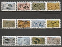 France 2021 Oblitéré: Empreintes - Adhesive Stamps