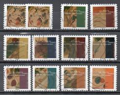 France 2021 Oblitéré: Kandinsky Nouveauté POSTE Complet Avec 2 Identiques - Adhesive Stamps
