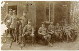 14-18.WWI - Carte Photo Allemande - Soldaten Lager Stellung Optik Technik Feldpost Fernsprech Doppelzug 212 - Guerre 1914-18