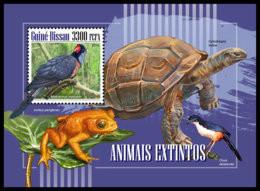 GUINEA BISSAU. 2018 **MNH Turtle Schildkröte Tortue Extinct Species S/S - OFFICIAL ISSUE - DH1848 - Turtles