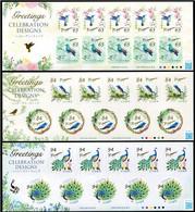 Japan 2021 Greetings: Celebration Designs/Birds Stamp Sheetlet*3 MNH - Nuevos