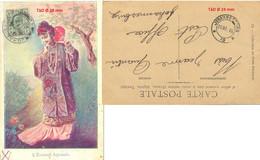 GRANDE-BRETAGNE TRANSVAAL SOUTH AFRICA JOHANNESBURG TàD 20-3-1906 CP L'ÉVENTAIL ESPAGNOL => POST OFFICE - Unclassified