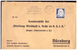 Dt- Reich (022251) Vorgedruckter Brief Gelaufen An Abteilung Wirtschaft U. Recht Im NSBLB Am 17.8.1935 - Brieven En Documenten