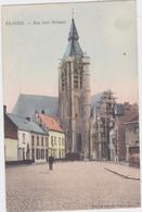 Vilvoorde - Jan Portaels Straat Met Zicht Op De Kerk (Decrée) (gekleurde En Gelopen Kaart Met Zegel) - Vilvoorde