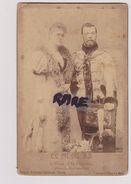 PHOTO ANCIENNE 1868 A PARIS,LE TZAR,TSAR,NICOLAS 2,ASSASSINE EN 1918,TSARINE,EMPIRE RUSSE,RUSSIE,RUSSIA,TSARISME,RARE - Places