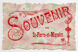 Saint Pierre Et Miquelon. Souvenir. - Saint-Pierre-et-Miquelon