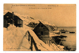 Saint Pierre Et Miquelon. La Route Du Cap A L'Aigle En Hiver. - Saint-Pierre-et-Miquelon