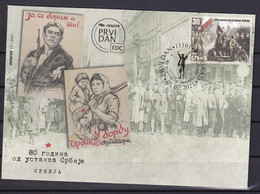 SERBIA 2021,80 Years Since The Serbian Uprising,FDC - Serbia