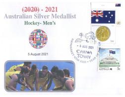 (WW 6 A) 2020 Tokyo Summer Olympic Games - Australia Silver Medal 5-08-2021 - Hockey's - Men's (Flag Stamps) - Eté 2020 : Tokyo