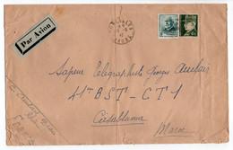 - Lettre CORCELLES (Rhône) Pour CASABLANCA (Maroc) 16.9.1942 - Bel Affranchissement Type Hourriez + Mazelin - - 1941-42 Pétain