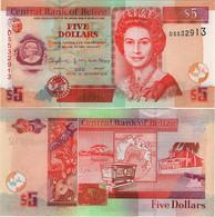 BELIZE      5 Dollars        P-67f       1.12.2015       UNC - Belice
