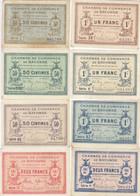 Bayonne 8 Billets 50 C - 1 Et 2 F De 1915 à 1920 Dont RARE JP.021.36 - 64 Et 68 - Chamber Of Commerce