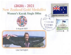 (WW 15 B) 2020 Tokyo Summer Olympic Games - New Zealand Gold Medal - 5-8-2021 - Womne's Kayak Single 500m - Eté 2020 : Tokyo
