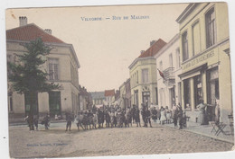 Vilvoorde - Mechelse Straat (Decrée) (gekleurde, Geanimeerde En Gelopen Kaart Met Zegel) - Vilvoorde