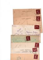 TIMBRES TYPE SEMEUSE CAMEE....15c BRUN...LOT DE 48 SUR CPA.......LOT 303 - 1906-38 Sower - Cameo