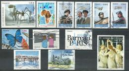 France N° 4492 - 4496 - 4497 - 4502 - 4504 - 4506 - 4508 - 4509 - 4512 - 4513 - 4515 - 4519   Obl. - Used Stamps