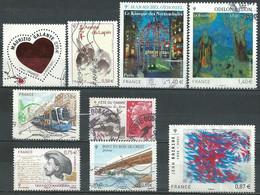 France N° 4529 à 4531 - 4533 - 4534 - 4536 - 4537 - 4542 - 4544   Obl. - Used Stamps