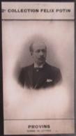 """Michel Provins Né à Nogent-sur-Seine 1/2 """"Gabriel Lagros De Langeron"""" Ecrivain -  2ème Collection Photo Felix POTIN 1908 - Félix Potin"""