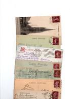 TIMBRES TYPE SEMEUSE CAMEE....20c BRUN...LOT DE 48 SUR CPA.......LOT 311 - 1906-38 Sower - Cameo