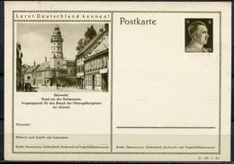 """German Empires,DR 1941 GS Mi.Nr.P304/41-187-1-B1 """"Lernt Deutschland Kennen!-Salzwedel.,Rathausturm.""""1 GS Ungebraucht - Stamped Stationery"""