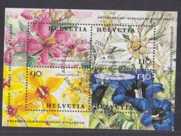 SCHWEIZ  Block 31, Gestempelt, Blumen 2001, Gemeinschaftsausgabe Mit Singapur - Blocks & Kleinbögen