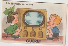 Bru 14 : Creuse : GUERET : Carte à Systèmes , A La Télévision  , Bozz - Guéret