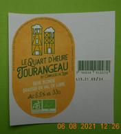 1  ETIQUETTE De BIERE  BRASSERIE  LE QUART D'HEURE  TOURANGEAU - Bière