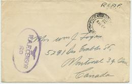 1945 Kanadischer Feldpost Bf O. Inh. M. Zensur Stpl. - Aufdrucksausgaben