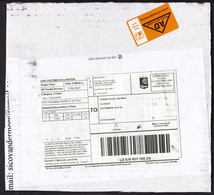 USA: Parcel Fragment (cut-out) To Netherlands, 2021, Post Expres PP, Customs Label Taxed, Import Tax (minor Damage) - Covers & Documents