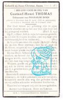 DP Gustaaf Henri Thomas ° Roeselare 1868 † Moorslede 1942 X Pharailde Sioen - Devotieprenten