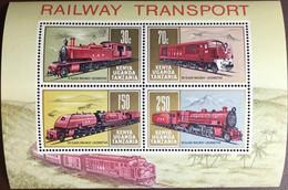 Kenya Uganda Tanzania 1971 Railway Trains Minisheet MNH - Kenya, Uganda & Tanzania
