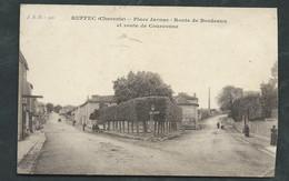 Ruffec ( Charente) - Place Jarnac - Route De Bordeaux Et Route De Courconne ( Infime Plis Dans Un Angle )- Maca3234 - Ruffec