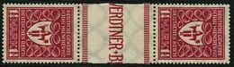 DT.REICH 1922, Nr. 199c ZS, ZWISCHENSTEGPAAR, POSTFRISCH BPP SIGN. Mi. 25,- - Unused Stamps