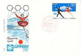 Japan FDC 1972 Sapporo Olympic Games  (DD25-28) - Winter 1972: Sapporo